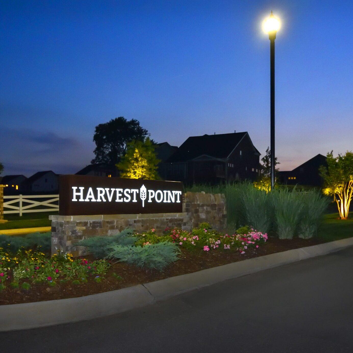 Harvest Point Dusk Entry Photo